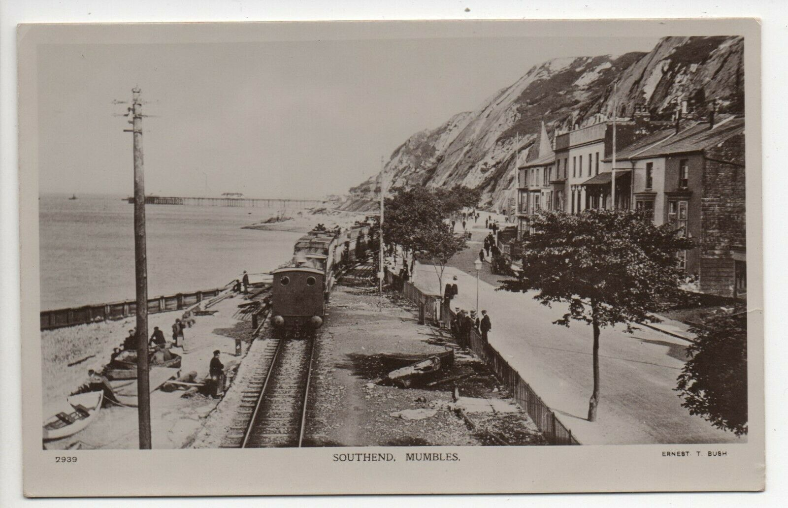 Southend Mumbles near Swansea Glamorgan by Ernest T - By Rail to the Mumbles