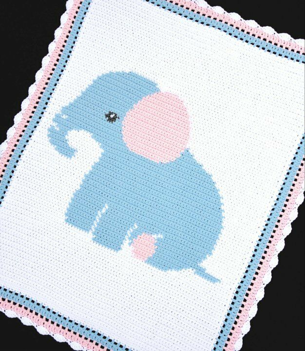 Crochet Patterns Graphs Free : ELEPHANT Baby Afghan Graph Crochet Pattern *EASY USD6.00 ...