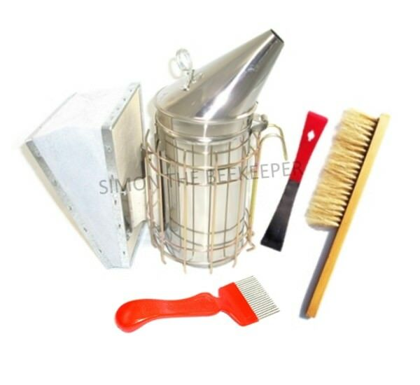 Large Steel Smoker, Hive tool, Uncapping fork and Brush