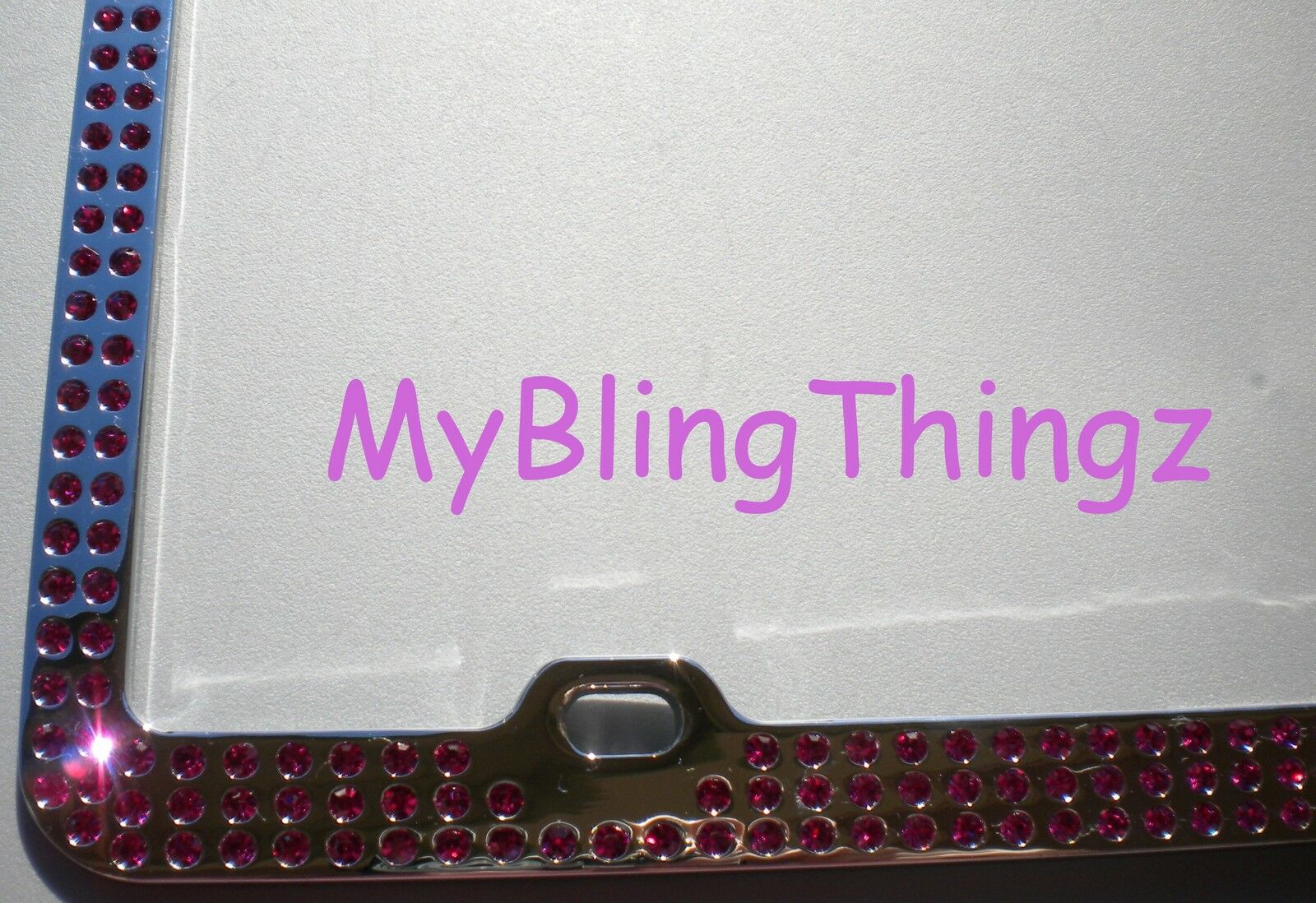 EMBEDDED HOT PINK Crystal Rhinestone License Plate Frame with ...