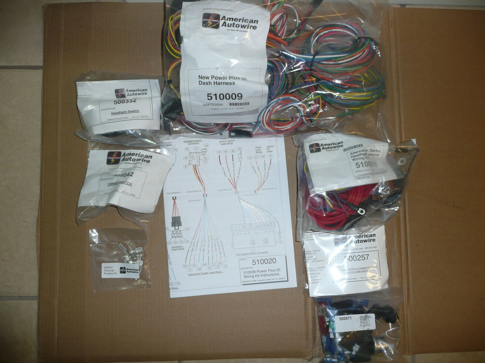 American Autowire Power Plus 20 510008 Street Rod Hot Universal Wiring Harness 1 Of 3only 2 Available See More