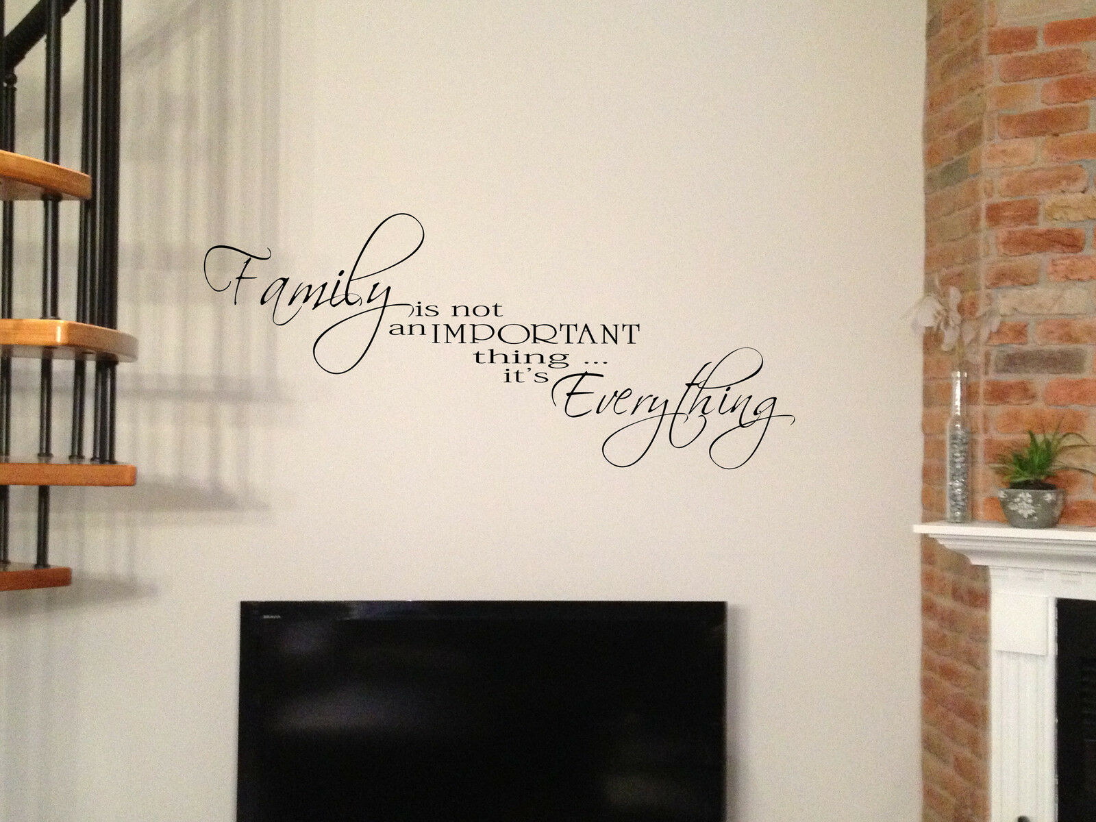 """42"""" FAMILY IS EVERYTHING VINYL LETTERING WORD DECAL WALL STICKER DECOR"""