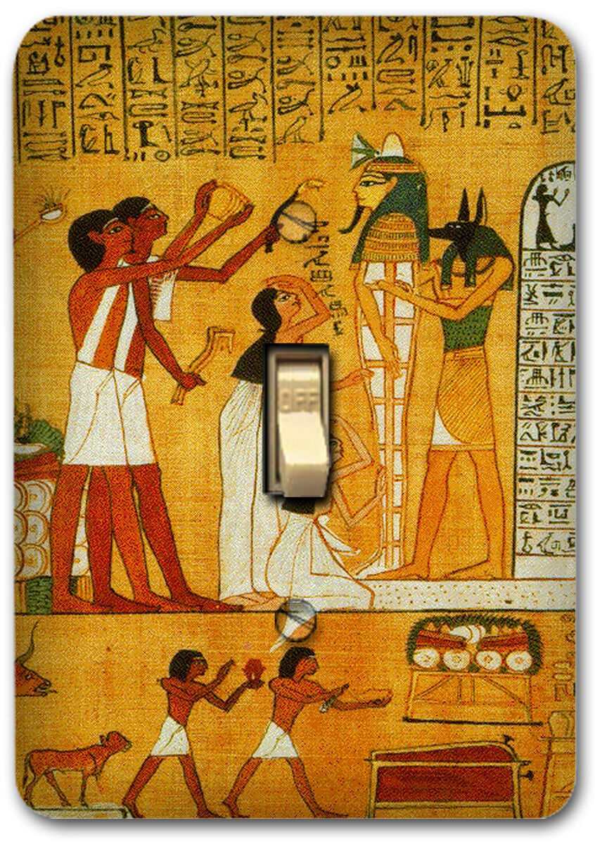 ANCIENT EGYPT EGYPTIAN Art Metal Single Light Switch Plate Cover ...