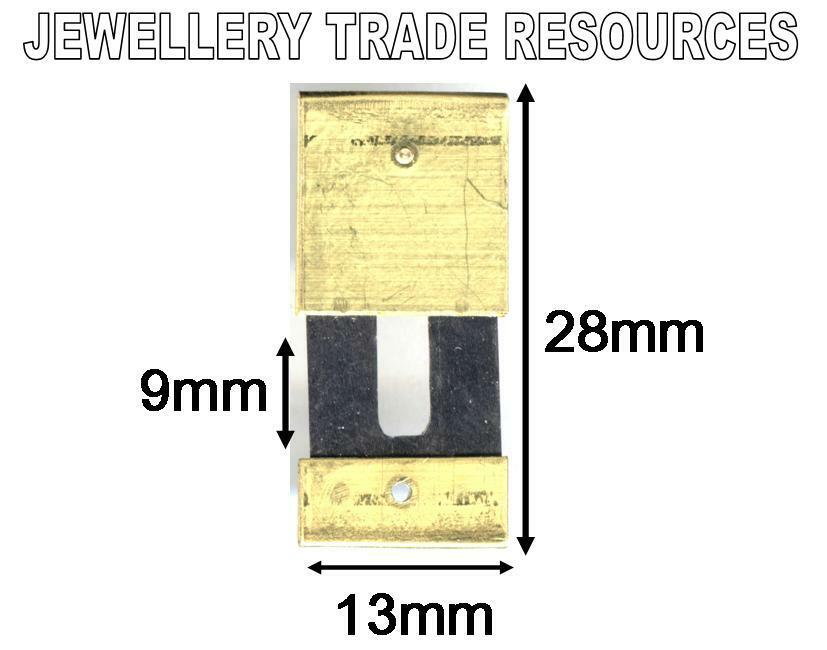 CLOCK SUSPENSION SPRING TOP QUALITY STEEL BRASS 28mm x 13mm x 9mm SPARES  PARTS