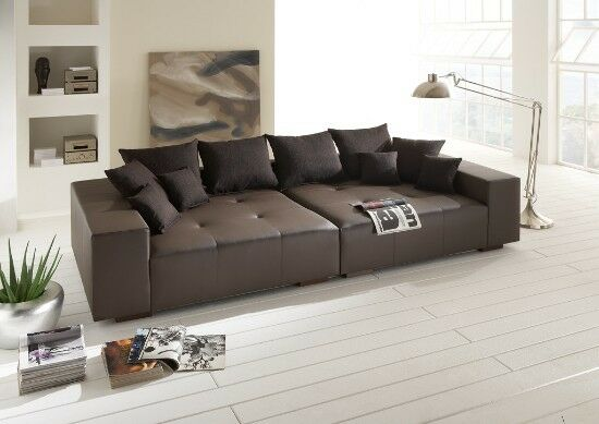 big sofa couch leder federkern italienisches echtleder. Black Bedroom Furniture Sets. Home Design Ideas