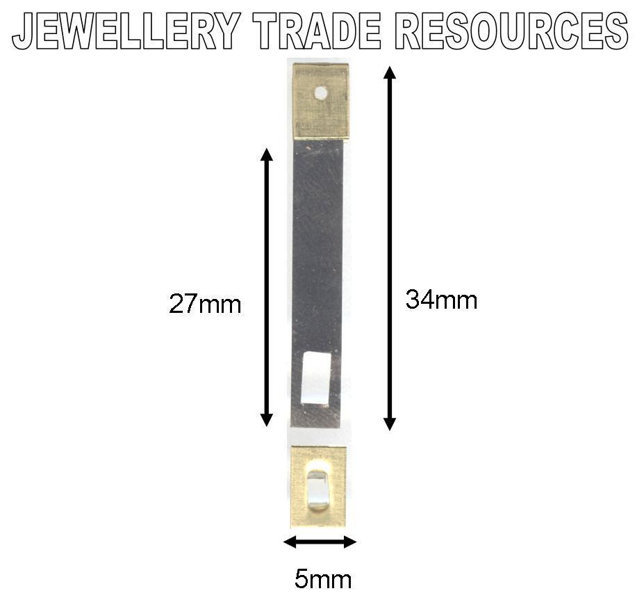 CLOCK SUSPENSION SPRING TOP QUALITY STEEL BRASS 34mm x 5mm x 27mm SPARES  PARTS