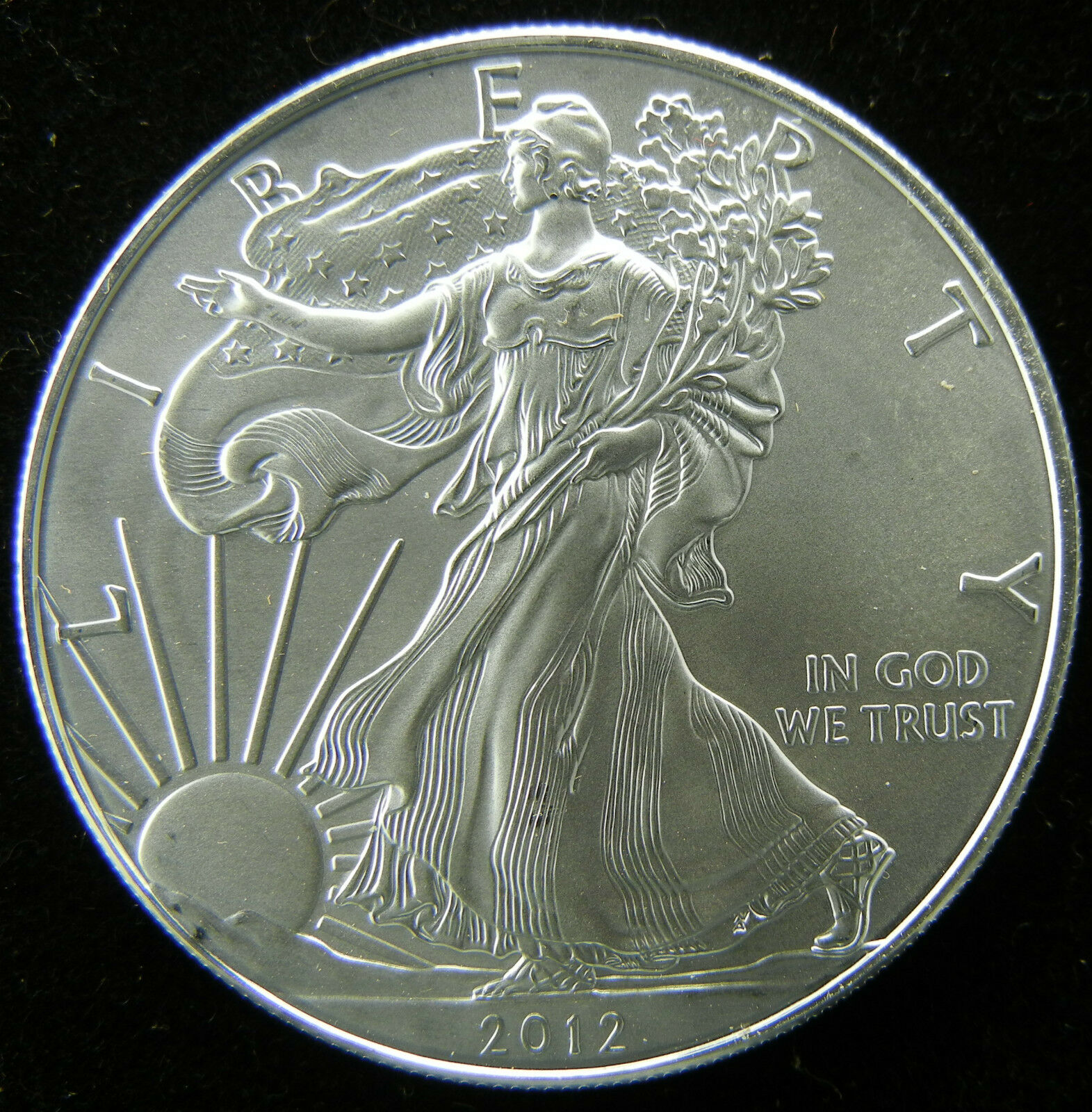 2012 1 Oz 999 Fine Silver Liberty Walking American Eagle Bar 1oz Dollar Coin Unc Of 2only Available See More