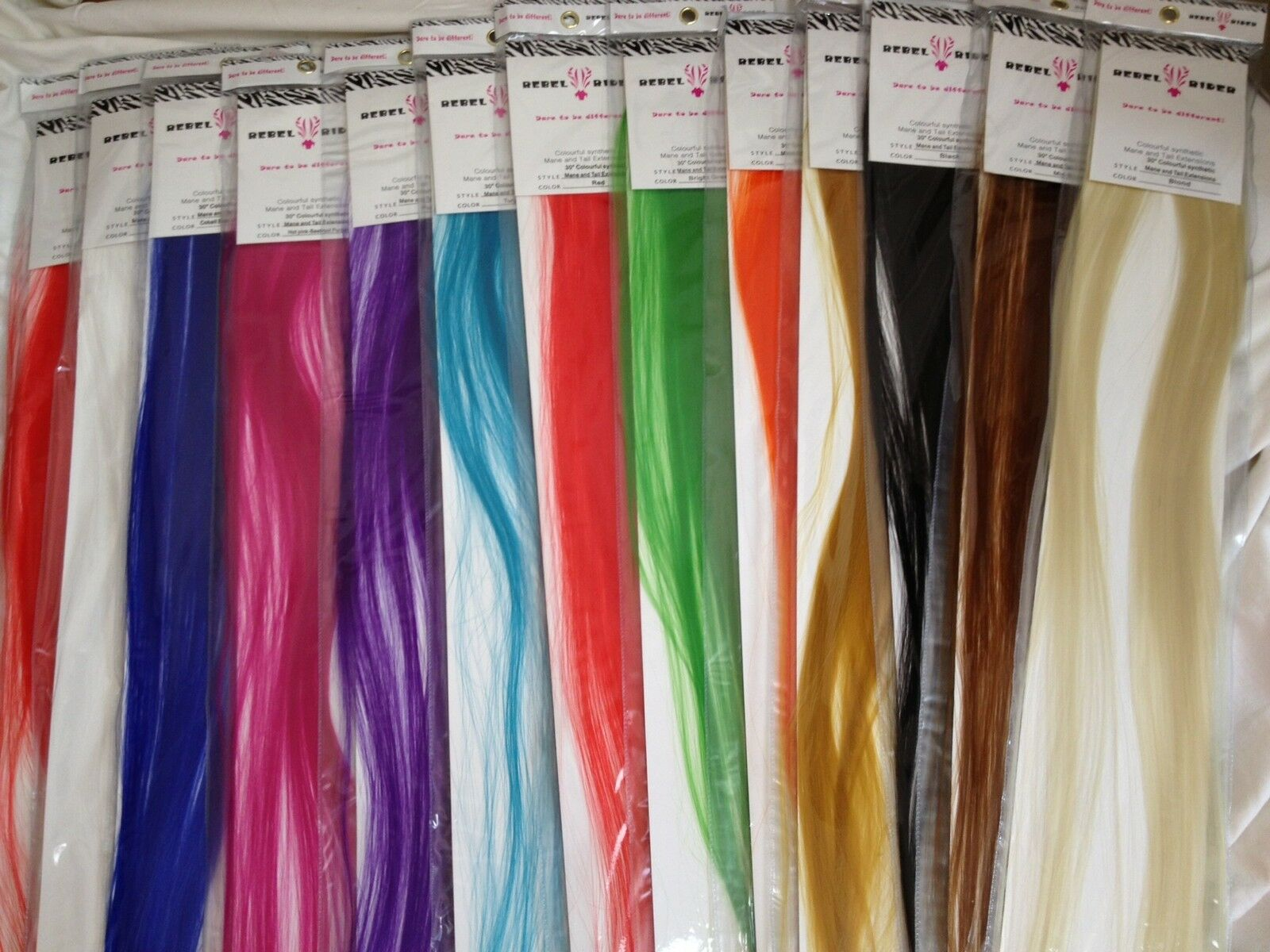 Extra Long Clip In Hair Extensions For Humans And Horses 11 Colours
