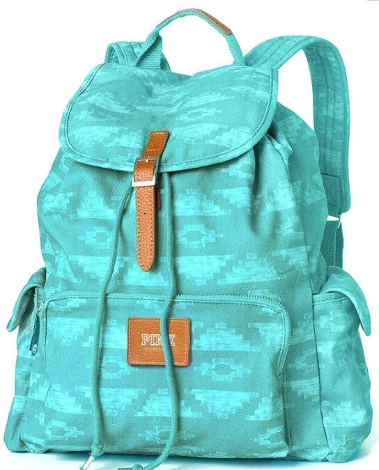 NEW Limited Edition Victoria's Secret Teal Aztec Backpack