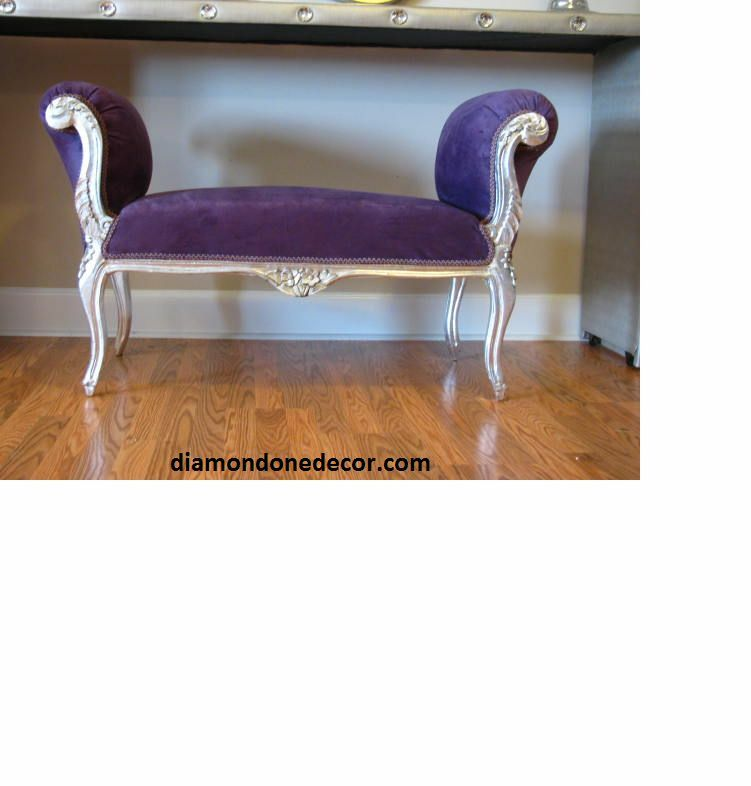 Hollywood French Reproduction Baroque Glamour Purple