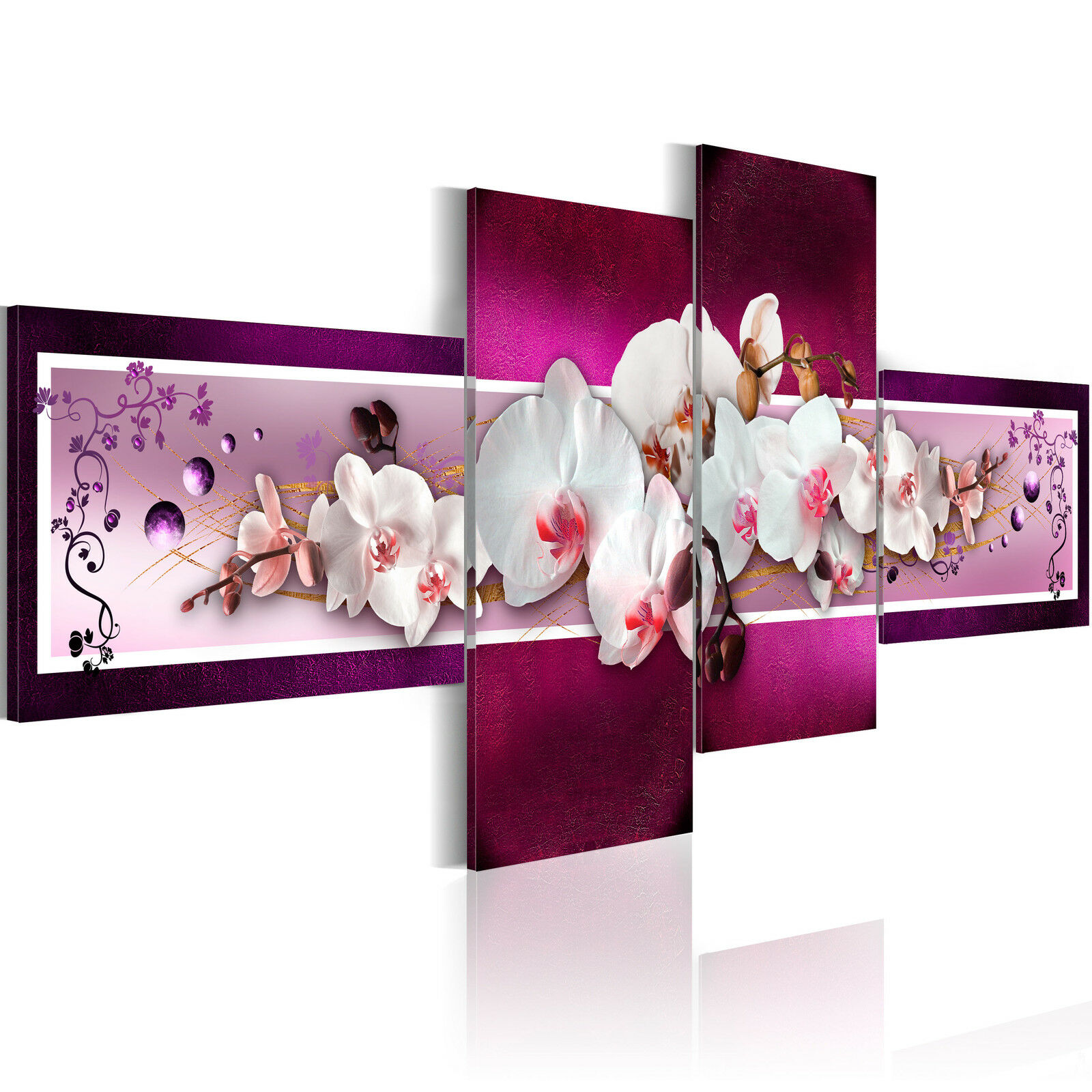 wandbilder xxl blumen orchidee abstrakt violett leinwand. Black Bedroom Furniture Sets. Home Design Ideas