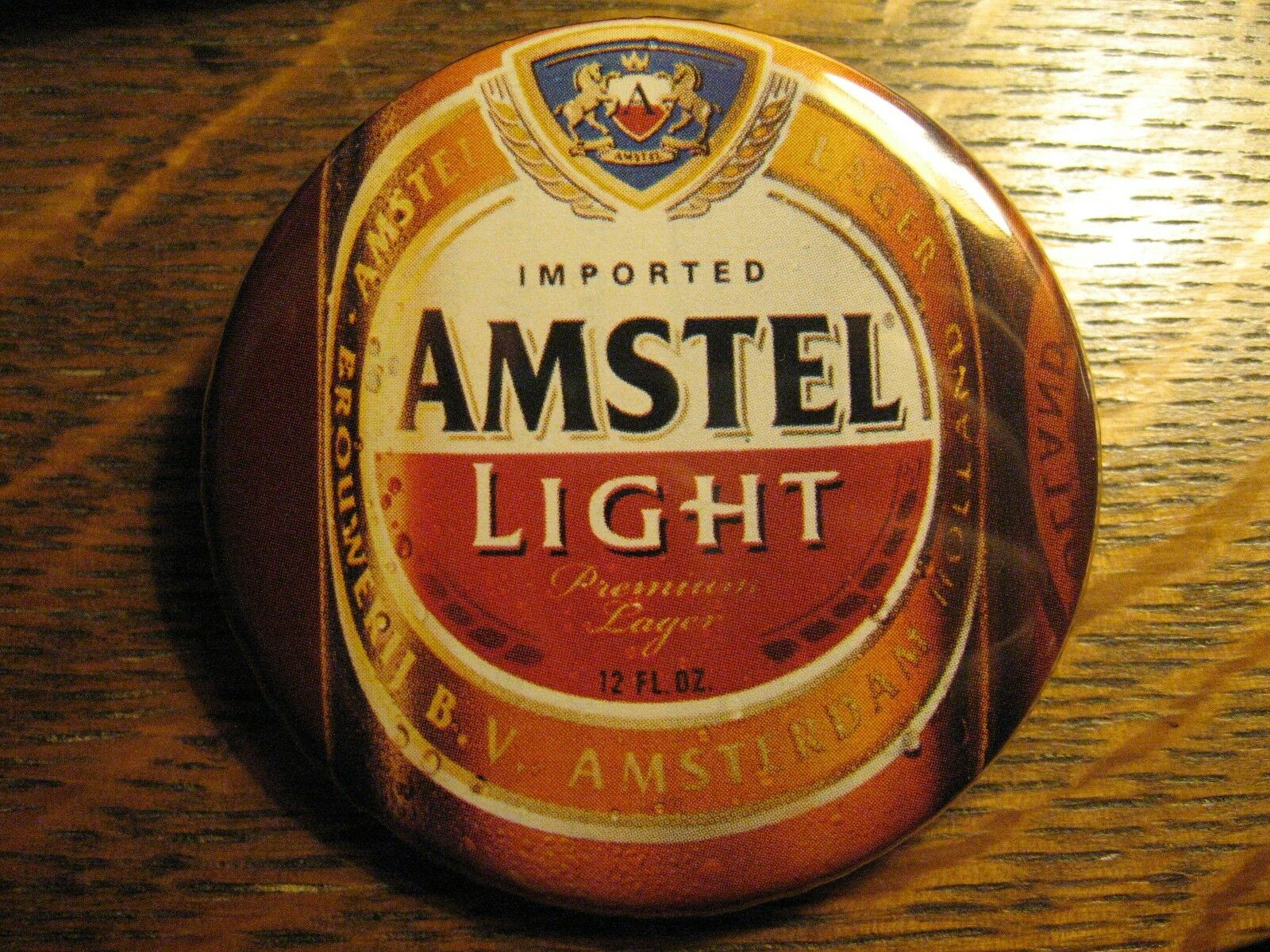 1 Of 2Only 1 Available Amstel Light Beer Lager Bottle Asterdam  Advertisement Pocket Lipstick Mirror