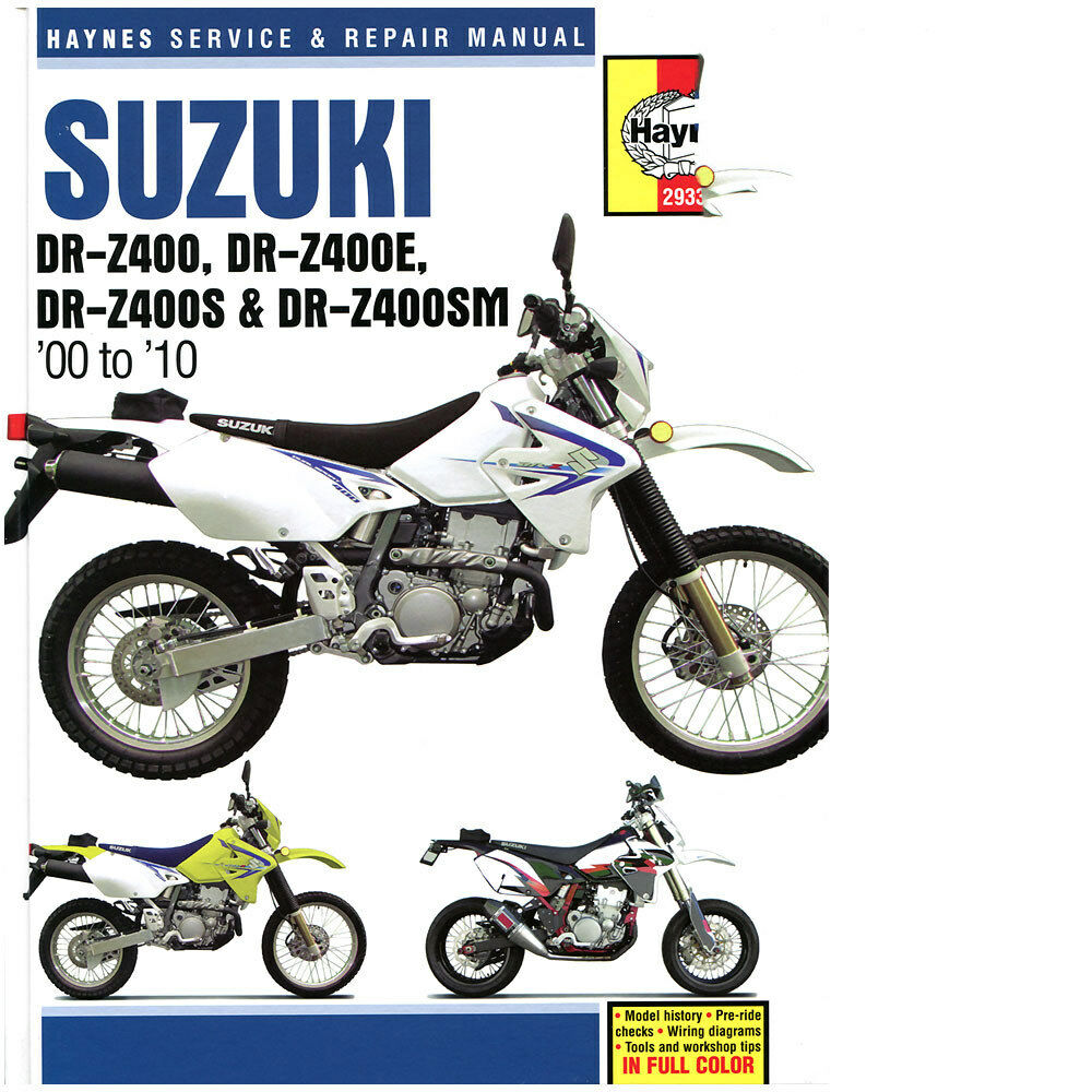 Suzuki DR-Z400 2000-2010 Haynes Workshop Service Repair Manual DRZ400 1 of  2Only 2 available ...
