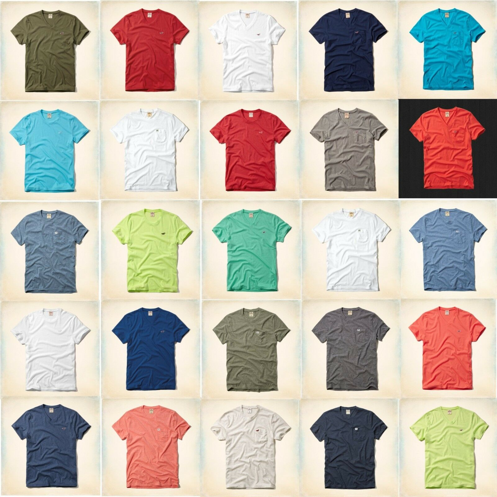 Nwt Hollister Co. By Abercrombie Men's T Shirt Solid Colors ...