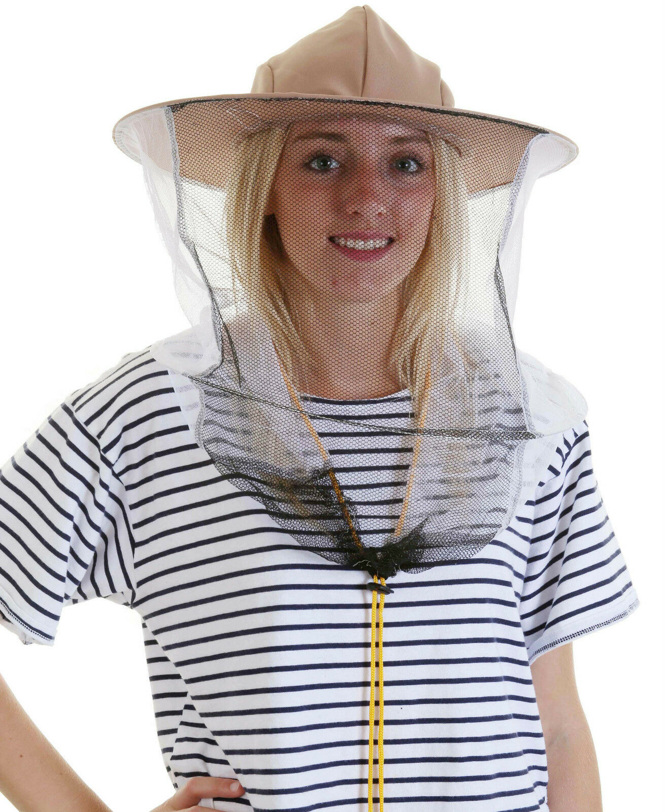 5 x Beekeeping LATTE BEE HAT AND VEILS - Double hoop and toggle