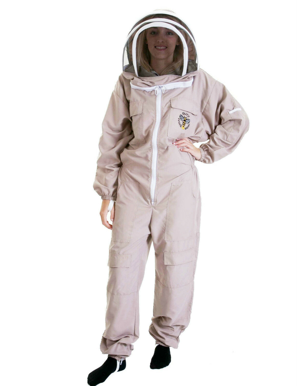 Lightweight BUZZ Beekeepers Bee suit - Colour latte, Size: EXTRA LARGE