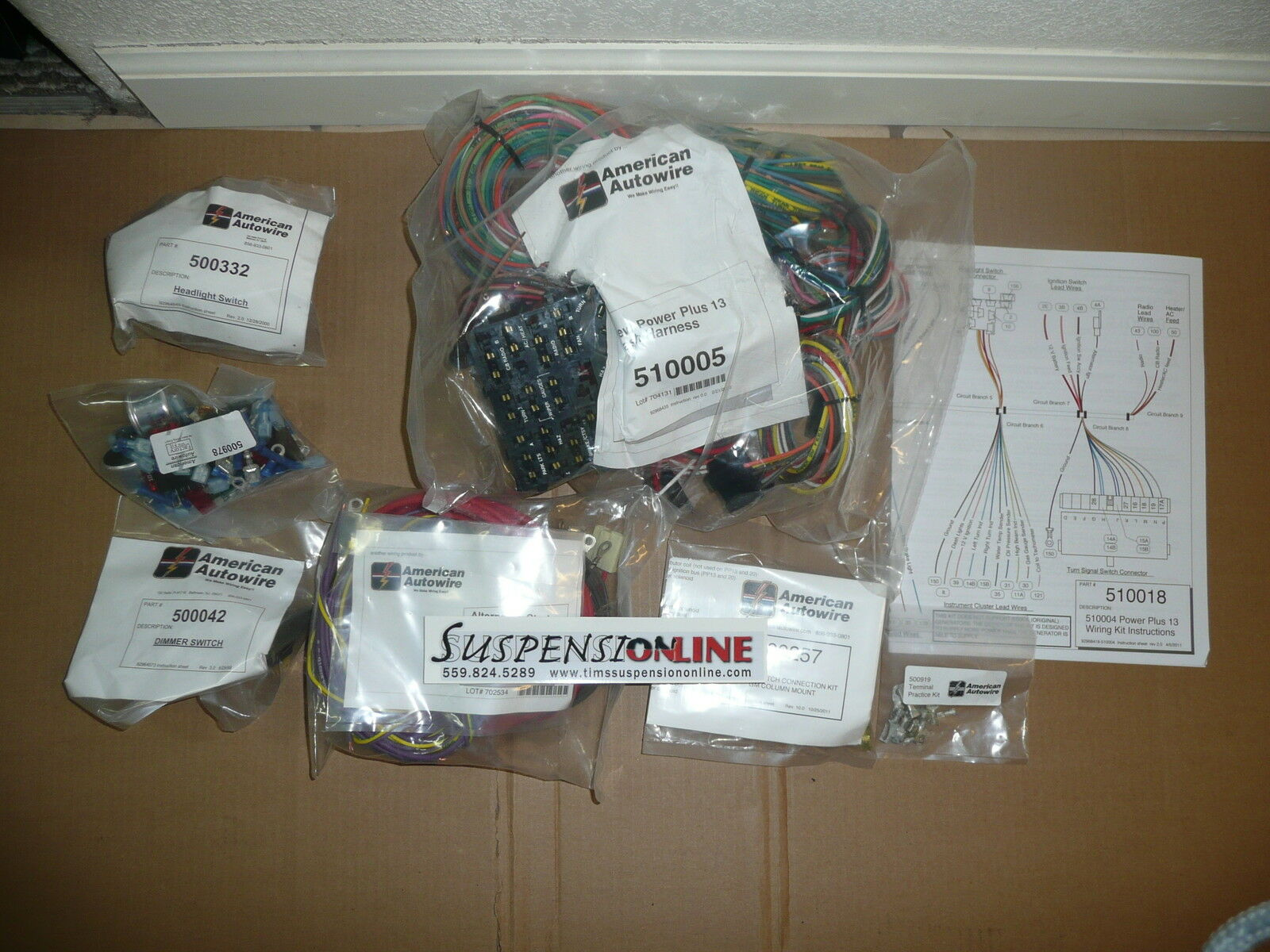 American Autowire Power Plus 13 510004 Street Rod Hot Universal Wiring Kits Harness 1 Of 3only 2 Available See More