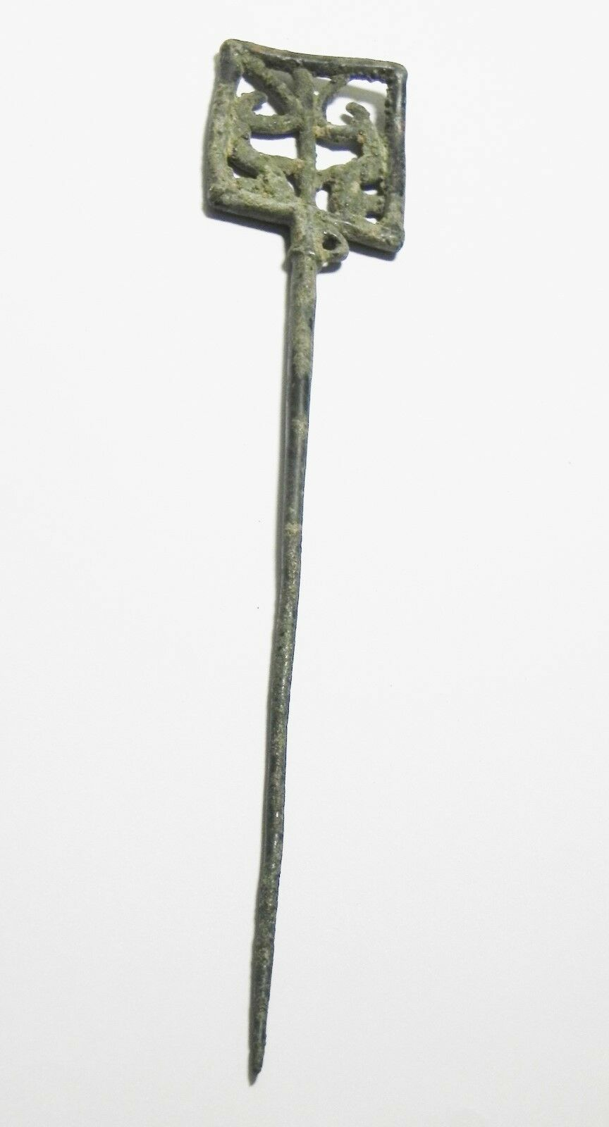 Zurqieh - Very Rare Luristan Bronze Hair Pin , 1200 B.c