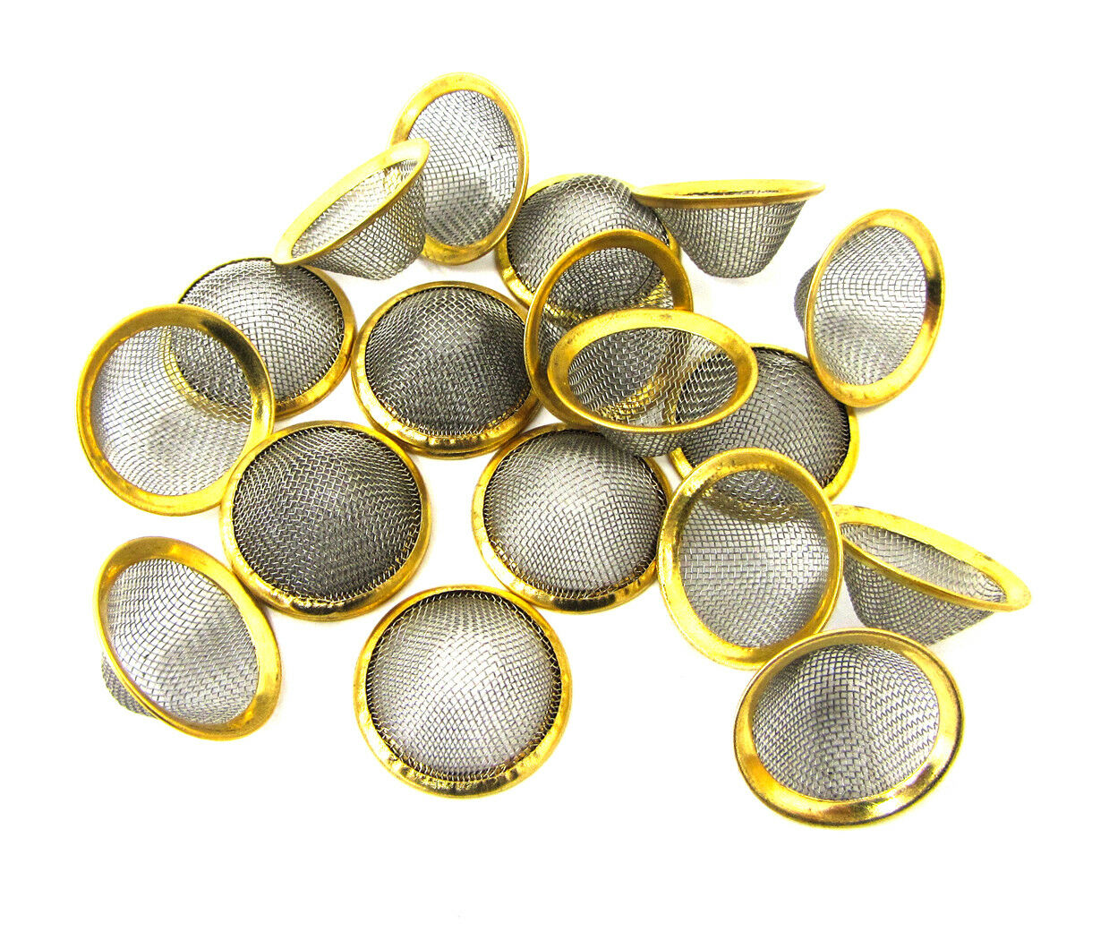 1 of 3 See More  sc 1 st  PicClick & 17MM CONICAL BOWL Gauzes Smoking Pipes Filter Screens Metal Brass 5 ...