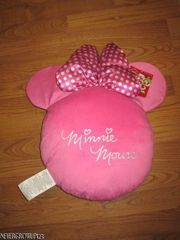 DISNEYMINNIE MOUSE PINK Icon EarsHead Plush CushionDecorative Gorgeous Minnie Mouse Decorative Pillow