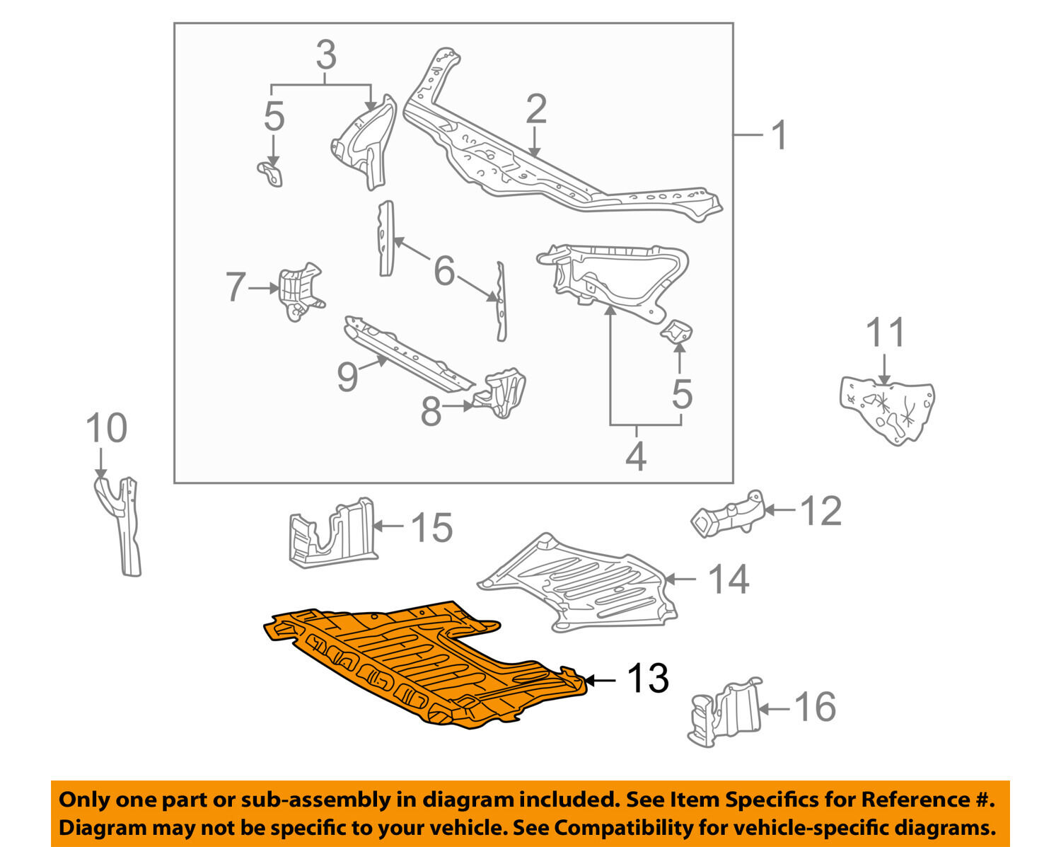 Lexus Toyota Oem Sc430 Under Radiator Engine Cover Splash Shield Diagrams 1 Of 2only Available