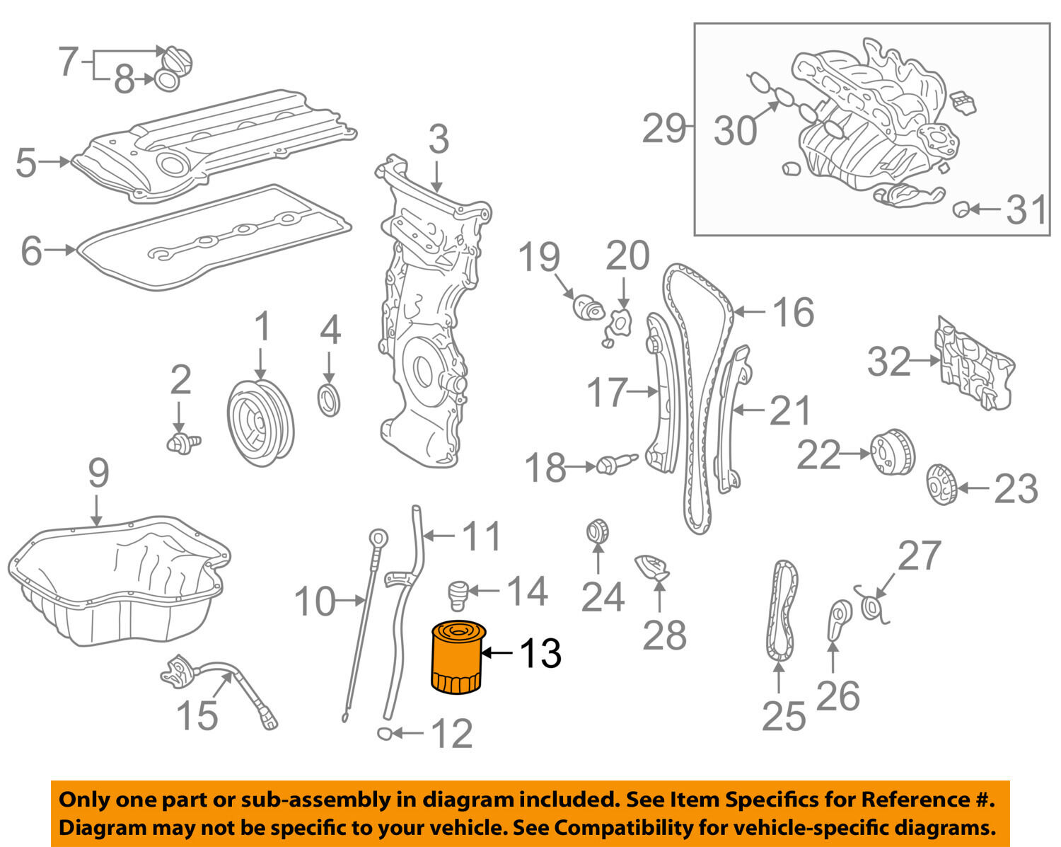 Toyota Oem Engine Oil Filter 90915yzzf1 899 Picclick Camry Diagram 1 Of 2free Shipping