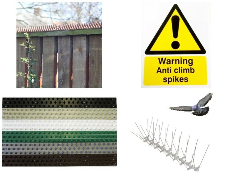 Flexible Garden Fence And Wall Strips Anti Climb Spikes