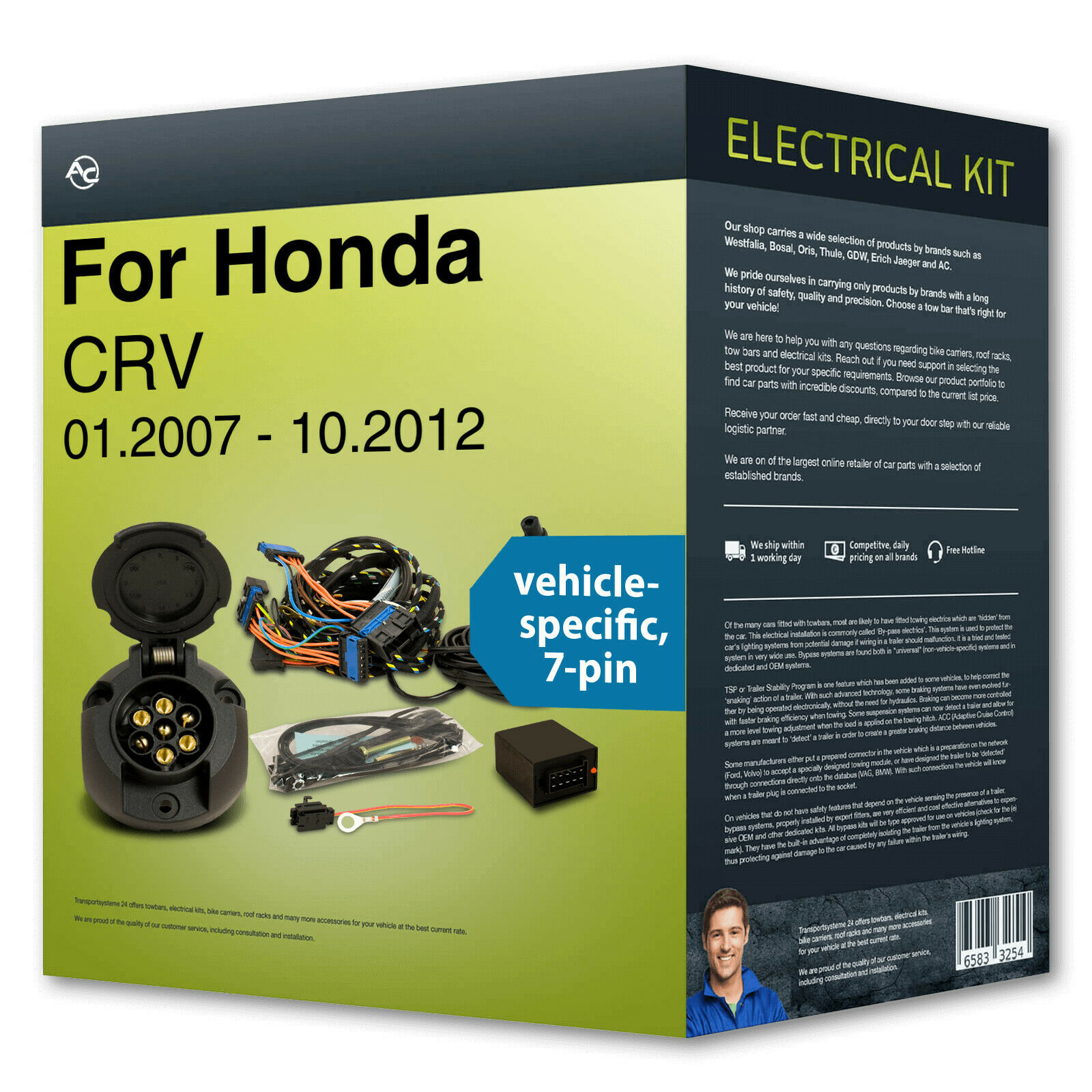 Towbar Wiring Kit 7 Pin Specific Suitable For Honda Crv 07 New Ac 1 Of 2 See More