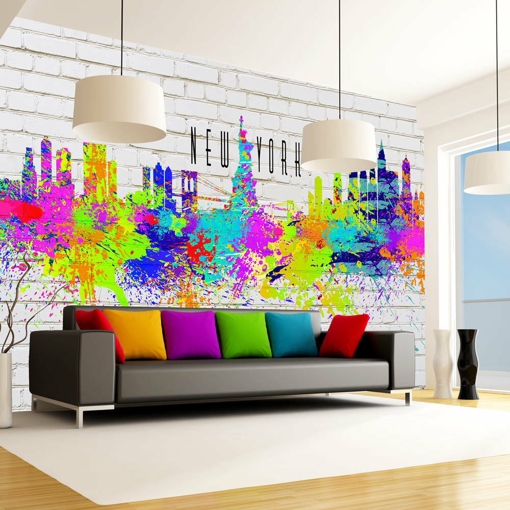 fototapete new york vlies tapete graffiti wandbilder xxl wandtapete f a 0073 a a eur 8 99. Black Bedroom Furniture Sets. Home Design Ideas