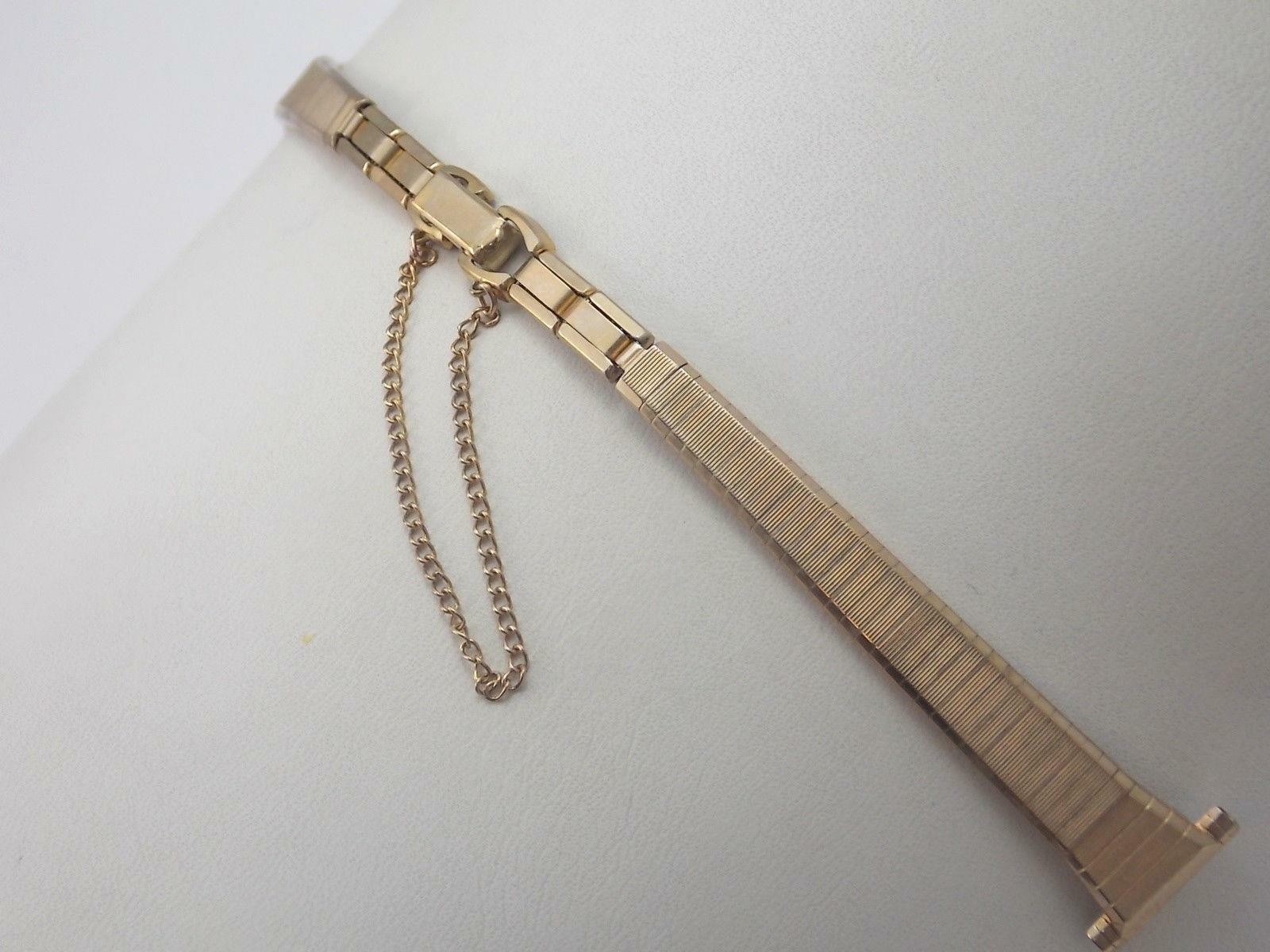 """Speidel 13mm 1/2"""" Ladies Vintage Watch Band Rolled Gold Butterfly Clasp NOS"""