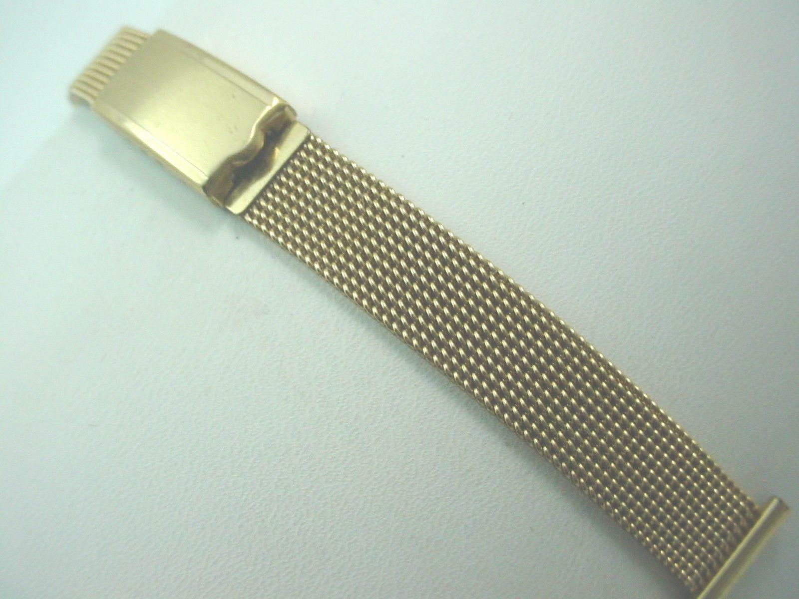 14mm Vintage JB Champion Ladies Watch Band Rolled Gold Deployment Clasp NOS