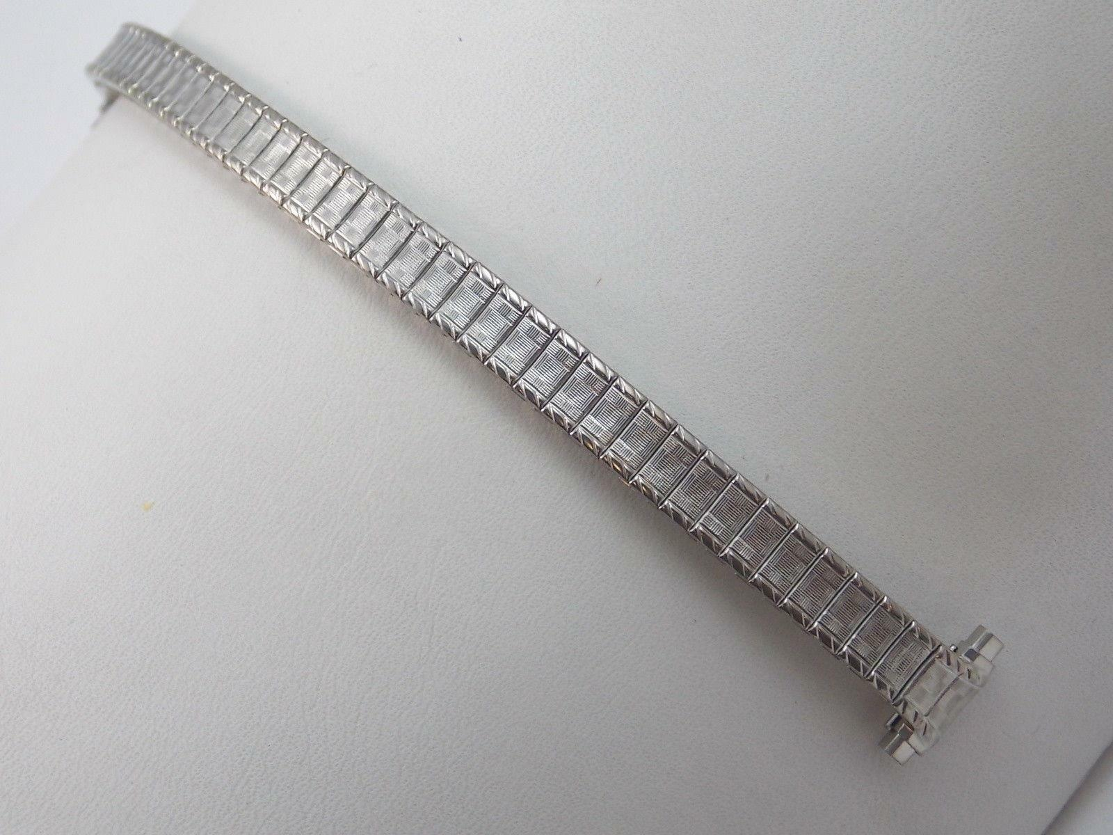 """Watch Band Vintage Speidel Strght Expansion Ladies Stainless 10mm-13mm 3/8""""-1/2"""""""