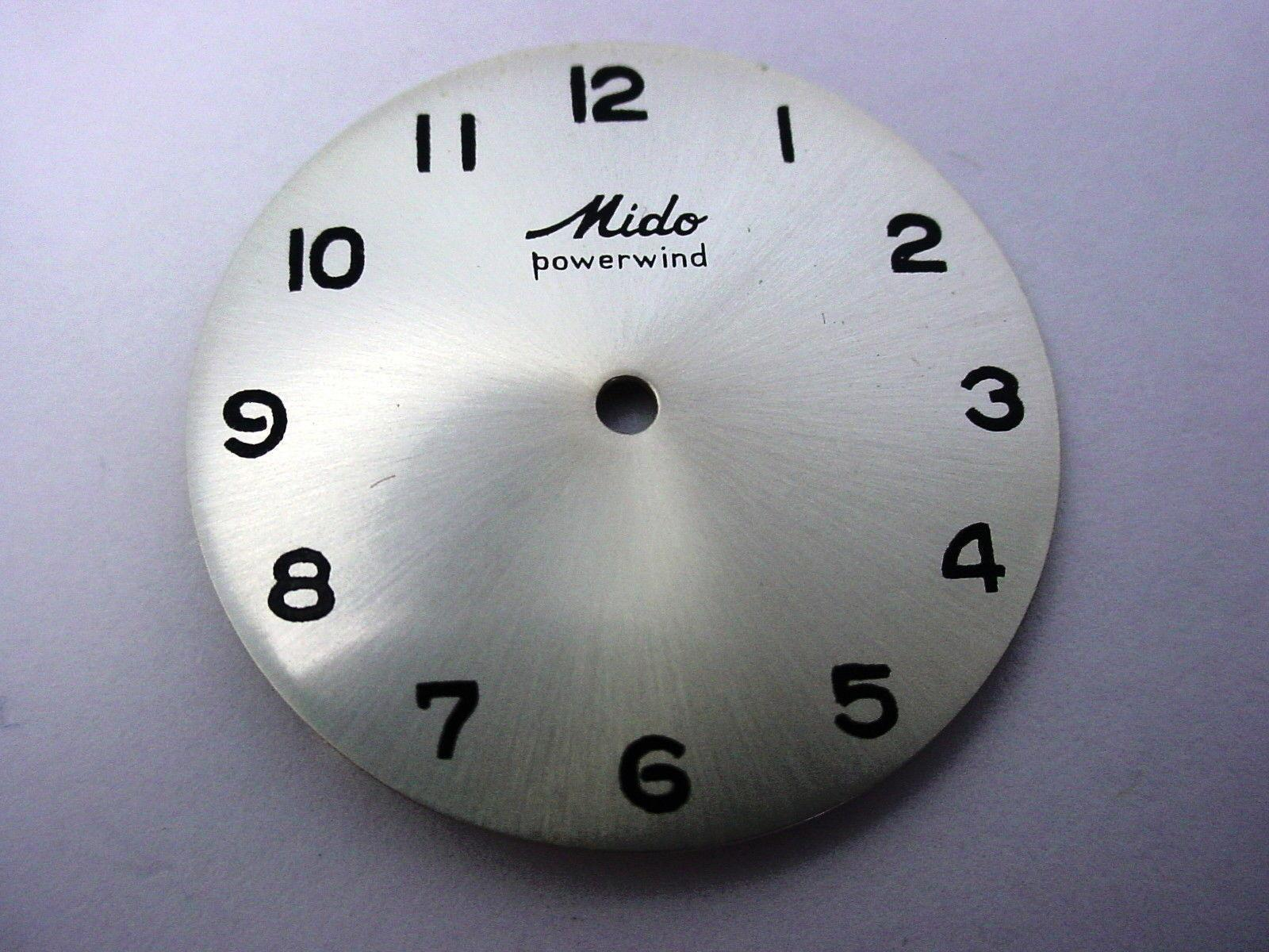 New Old Stock Powerwind Mido Pearl 28mm Vintage Watch Dial Black Numeral Markers