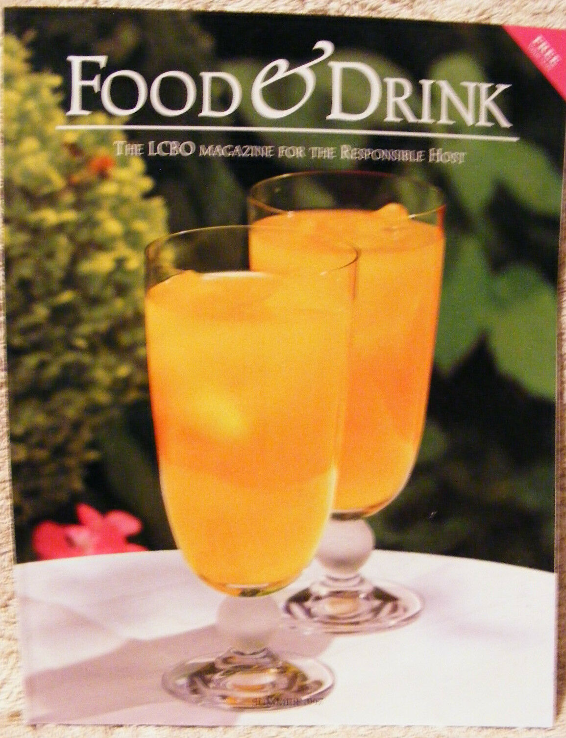 LCBO - FOOD & DRINK BOOK - SUMMER 1997 - BRAND NEW - BACK ISSUE ...