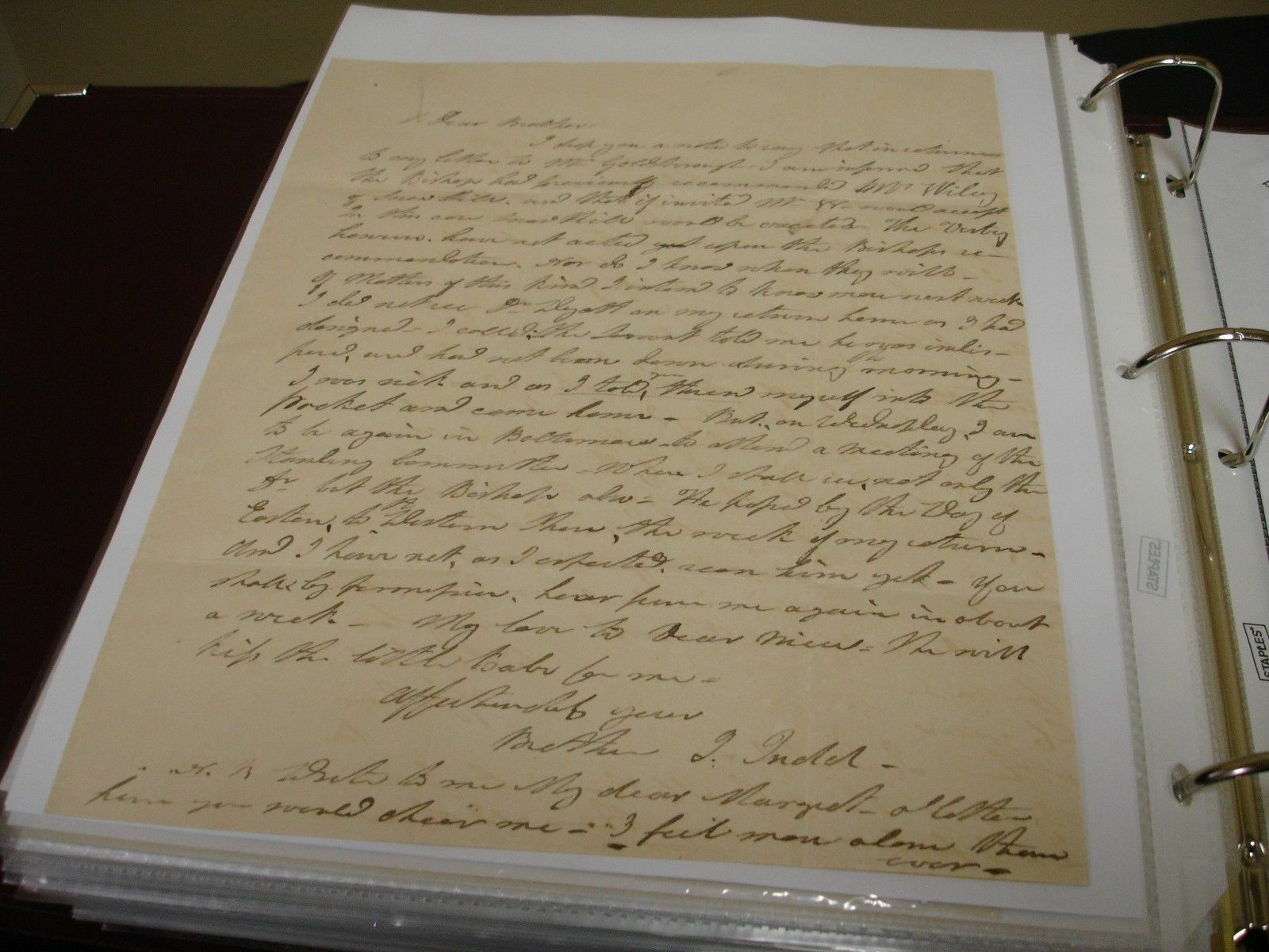 Autographed Letter signed by Bethel Judd