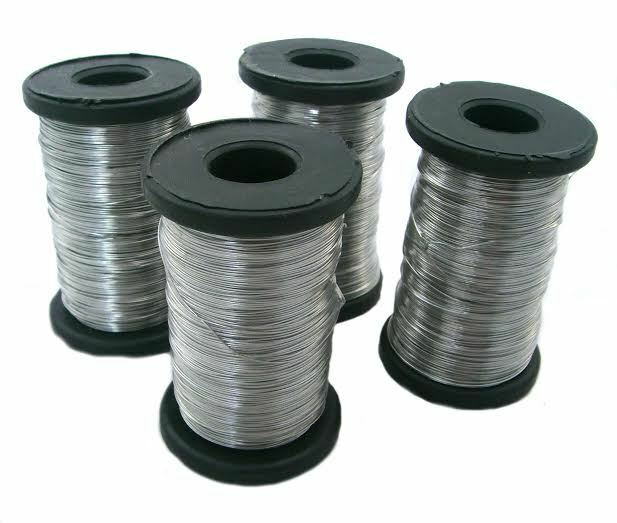 4 X 250g roll of Stainless Bee hive / frame foundation wire