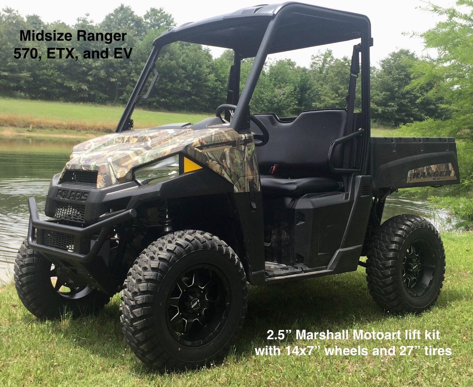 polaris ranger lift kit mid size 570 570 crew 2 5 2014 19. Black Bedroom Furniture Sets. Home Design Ideas