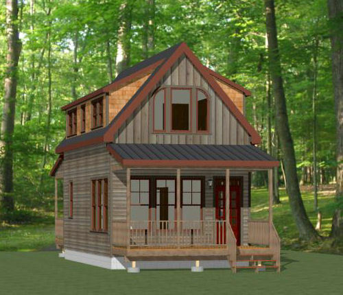 16x30 Tiny House 2 Bedroom PDF Floor Plan 878 sq