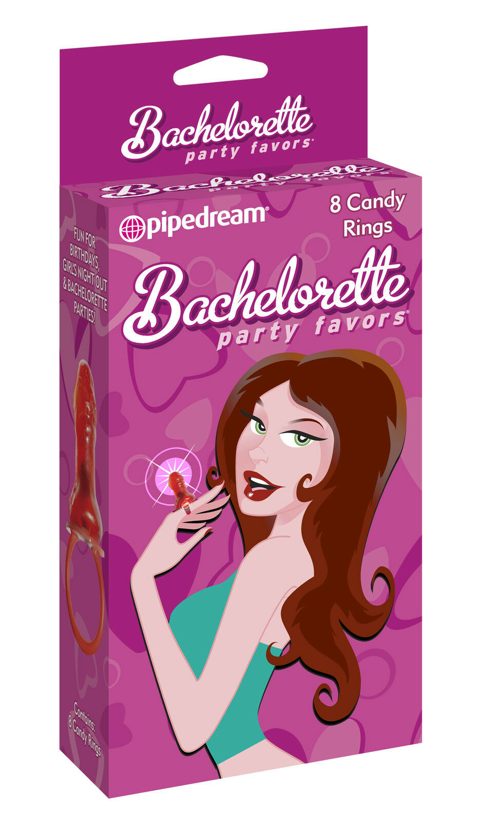 PIPEDREAM PRODUCTS BACHELORETTE Party Favors Candy Rings - $9.99 ...