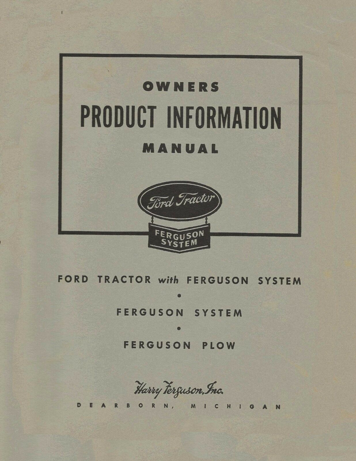 1939 47 ford 9n 2n product information manual operators ferguson rh picclick com ford 9n service manual pdf ford 8n operators manual