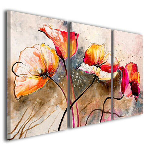 Quadri con fiori moderni many colors arte moderna 130x90 for Quadri con fiori moderni