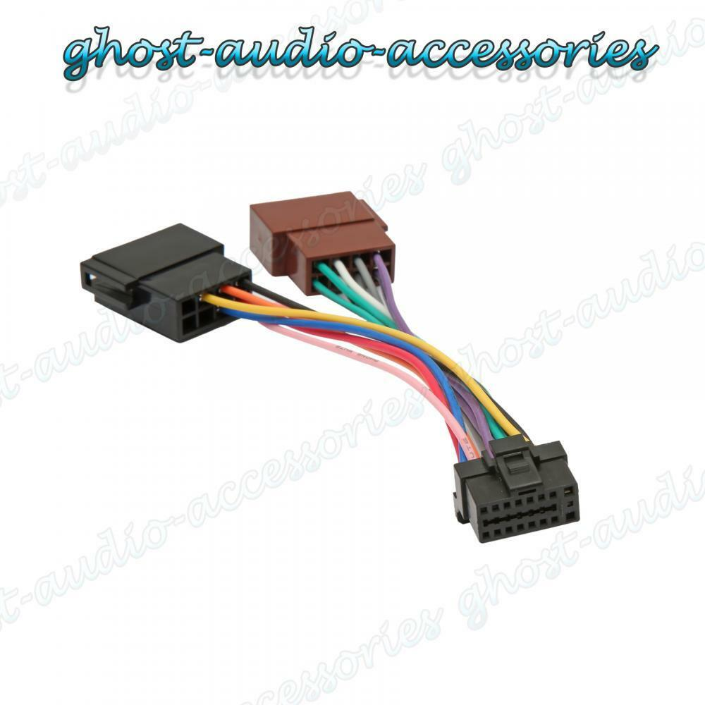 Alpine 16 Pin Iso Wiring Harness Connector Adaptor Car Stereo Radio Audio Accessories 1 Of 1free Shipping
