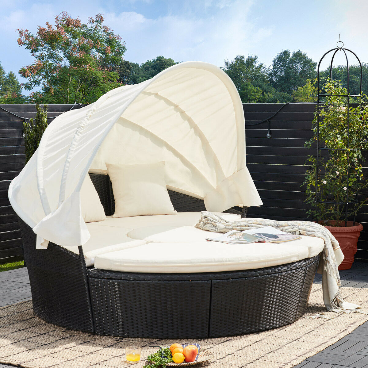 sonneninsel rattan lounge gartenm bel sonnenliege sitzgruppe gartenliege liege eur 319 00. Black Bedroom Furniture Sets. Home Design Ideas