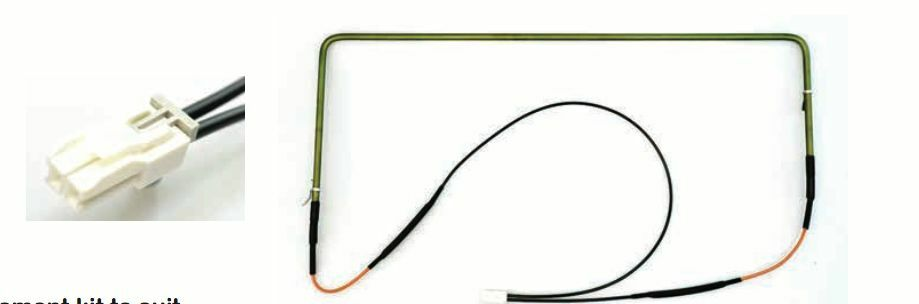 Fisher & Paykel Defrost Heater Element 355W, 57Cm E521T, E522B 818979P