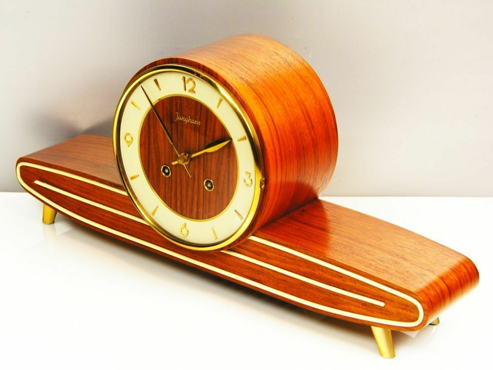 Beautiful Later Art Deco Junghans  Chiming Mantel Clock  With Resonanz From 50´s