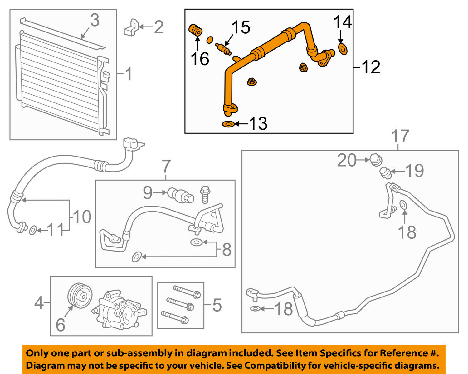 Chevrolet Sonic Repair Manual: Air Conditioning Evaporator Hose Assembly Replacement