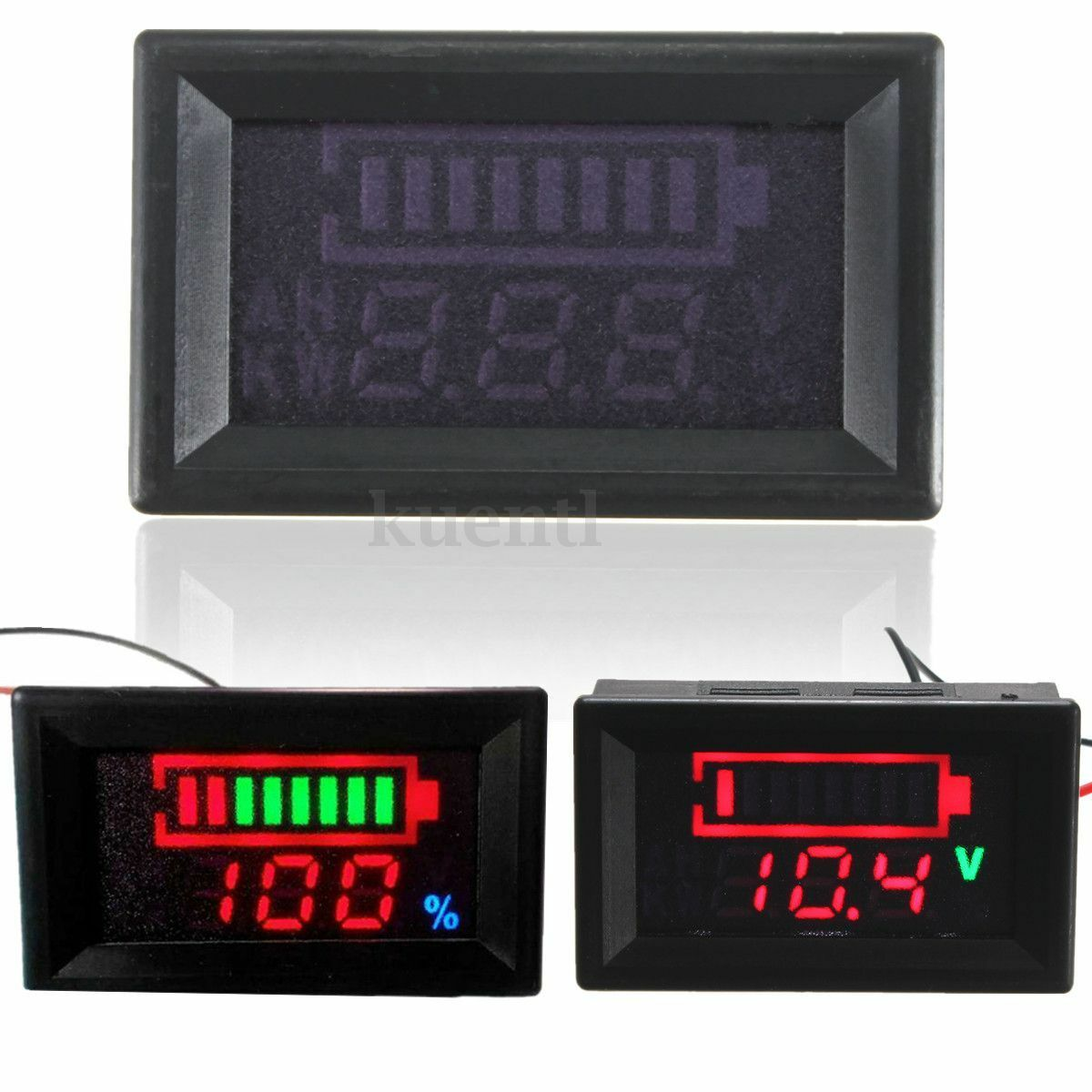 12v spannungsanzeige batterie anzeige tester led kfz auto lkw traktor boot neu eur 9 02. Black Bedroom Furniture Sets. Home Design Ideas