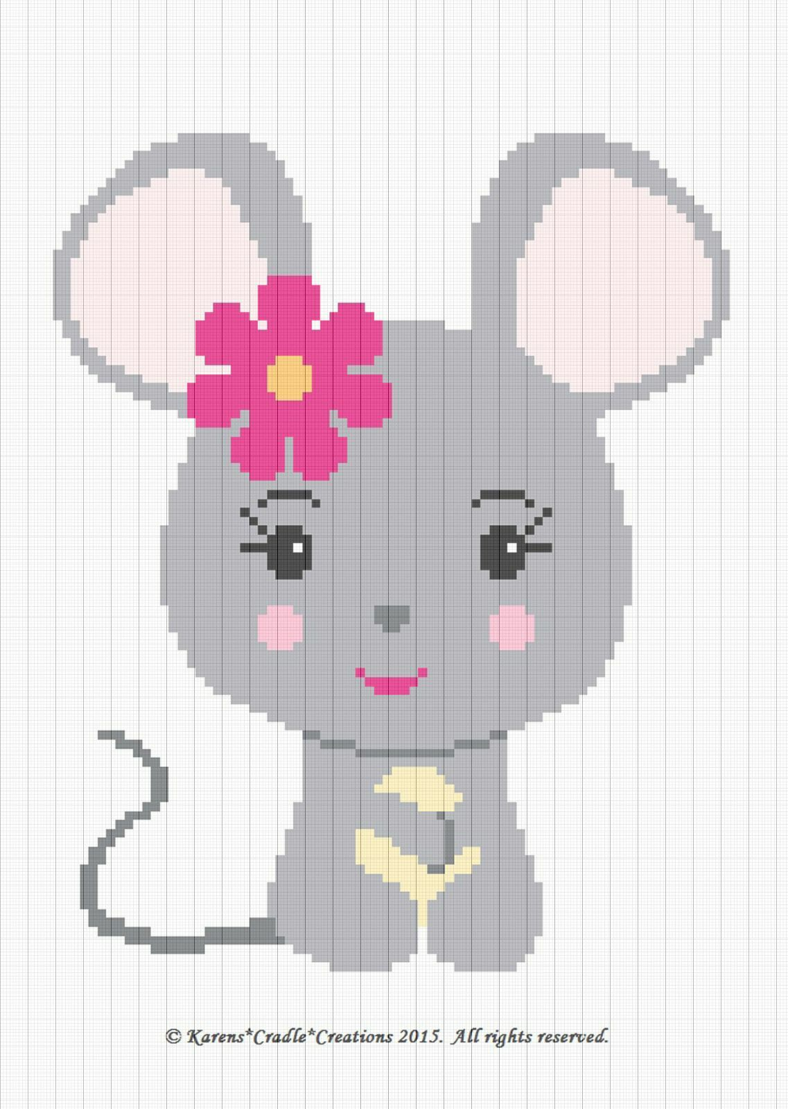 Crochet Patterns Mouse Baby Girl Graph Chart Afghan Pattern Easy 600 Stitch Diagram Diagrams 1 Of See More
