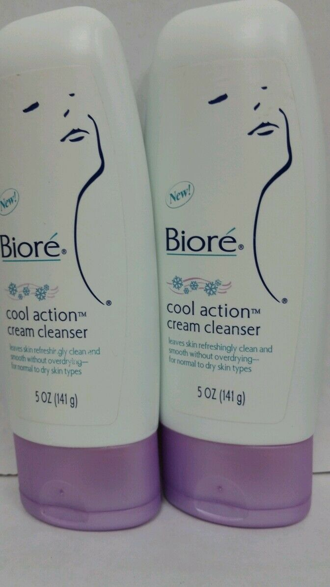 Biore Cleanse Cool Action Cream Cleanser Normal to Dry Skin 5oz (2 PACK) • $9.99