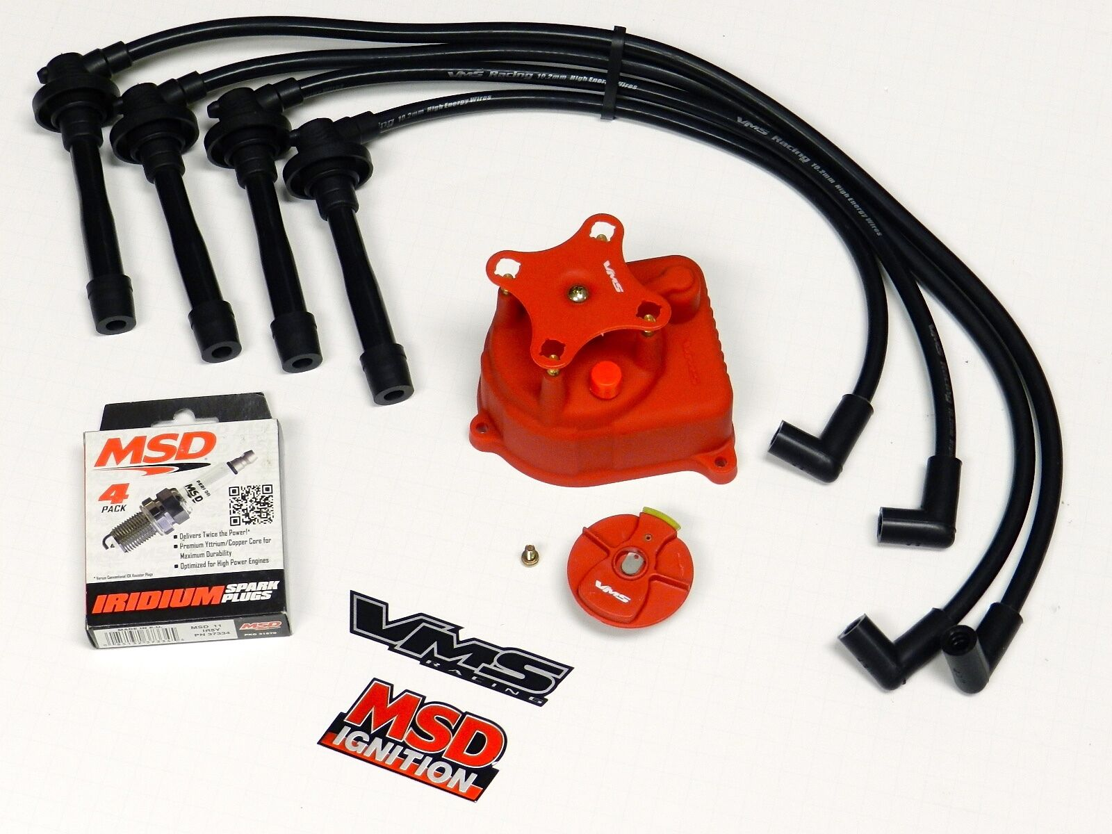 Distributor Cap + Rotor + Wires + Msd Spark Plugs 96-00 Honda Civic D16 1  of 5FREE Shipping Distributor Cap ...